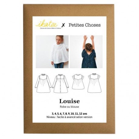 Blouse or Dress Sewing pattern - Ikatee Louise