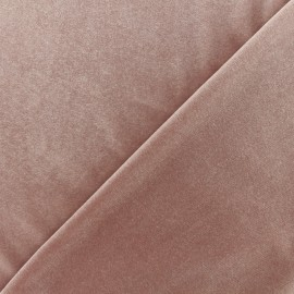 Short jersey velvet fabric - Old pink x10cm
