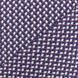 Waffle stitch viscose fabric - Purple Orlane x 10cm
