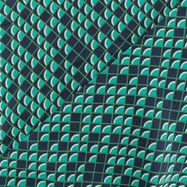 Viscose Fabric - Green Scales x 10cm