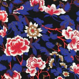 Tissu crêpe Fukuoka- noir x 50cm