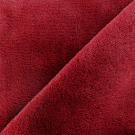 Fur fabric - Red Vancouver x 10 cm