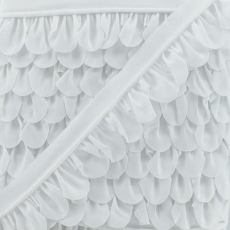 Petal Piping - White x 1m