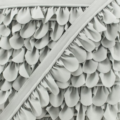 Petal Piping - Grey x 1m