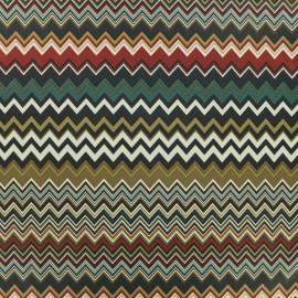 Tissu Microfibre Chevron - marron x 10cm
