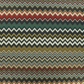 Microfiber fabric - Brown Herringbone x 10cm
