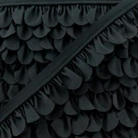 Petal Piping - Black x 1m