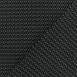 Microfiber fabric - Black Tania x 10cm
