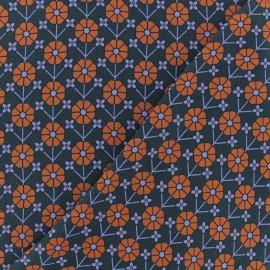 Tissu crêpe Vanessa - bleu x 10cm