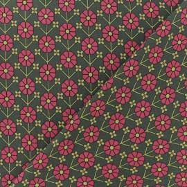 Crêpe Fabric - khaki green Vanessa x 10cm