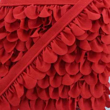 Petal Piping - Red x 1m
