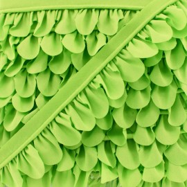 Petal Piping - Anise Green x 1m