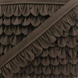 Petal Piping - Chocolate Brown x 1m