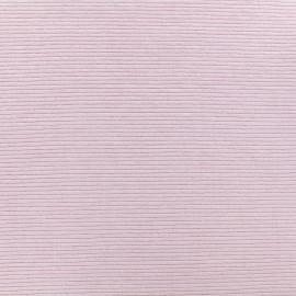 Tissu jersey 500 raies - rose clair x 10cm
