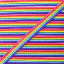 Grosgrain Rainbow Ribbon - Multicolour x 1m