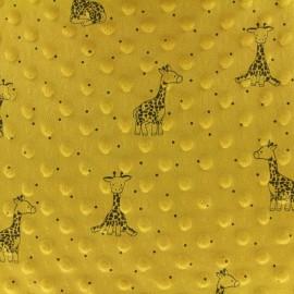 Minkee velvet fabric dot - white Winter Teddy x 10cm