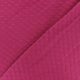 Quilted jersey fabric Diamonds 10/20 - Fuchsia x 10cm