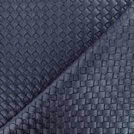 Simili cuir tressé - bleu x 10cm