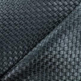 Simili cuir tressé - noir x 10cm
