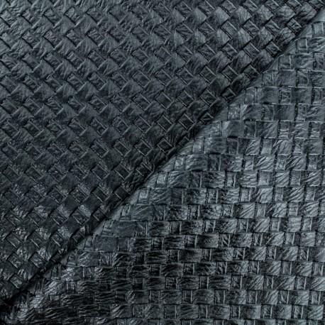 Braided Leather Imitation - black x 10cm