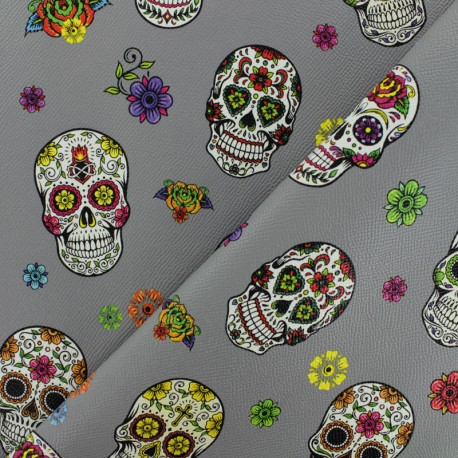 Leather Imitation - Grey Calavera x 10cm