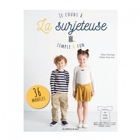 """Livre """"Je couds à la surjeteuse - Simple et Fun"""""""