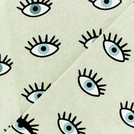 Poly cotton fabric - Third Eye - natural x 10cm