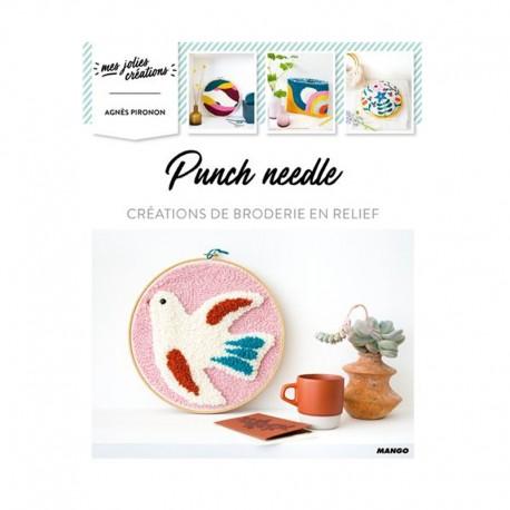 """Livre """"Punch needle - Création de broderie en relief """""""
