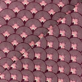 Tissu toile de coton Japan - rose  x 10cm