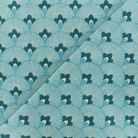 Japan cotton canvas fabric - sky blue x 10cm