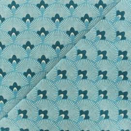 Tissu toile de coton Japan - bleu ciel x 10cm