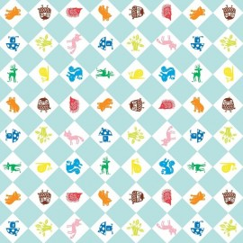 Fabric toile cirée Forest Friend x 10cm
