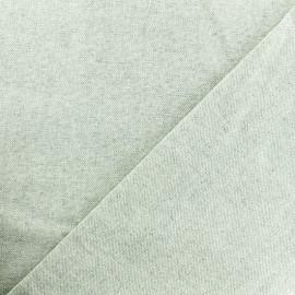 Tissu toile de coton lurex Méhrangarh - gris clair x 10cm