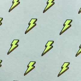 Tissu polycoton Flash - gris x 10cm