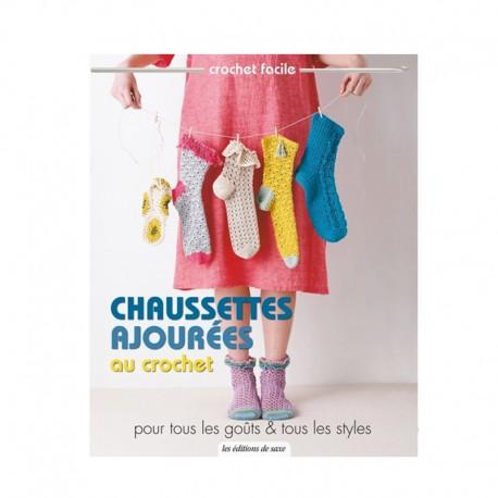 """Livre """"Chaussettes ajourées au crochet"""""""