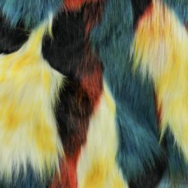 Tissu fourrure Aspen - Multicolore x 10cm