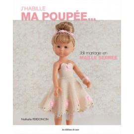 """Livre """"J'habille ma poupée - Joli mariage en maille serrée"""""""