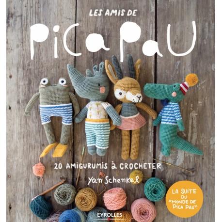 """Livre """"Les amis de Pica Pau - 20 amigurumis à crocheter"""""""