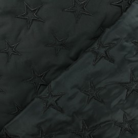 Tissu matelassé Polyester Etoiles - bleu marine x 10cm