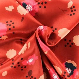 ♥ Coupon 230 cm X 145 cm ♥ Tissu satin Festive - rouge