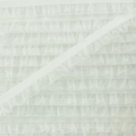 Galon Elastique Mousseline - Écru x 1m