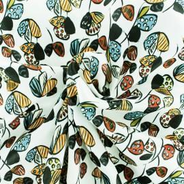 Tissu satin polyester Talentueuse - crème x 10cm