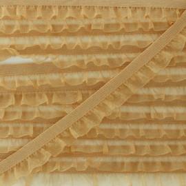 Elastique Lingerie Mousseline - Ocre x 1m