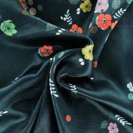 Tissu satin Divine - noir x 50cm