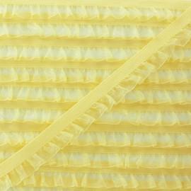 Flounce Muslin Elastic Ribbon - Yellow x 1m
