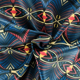 Satin fabric - Black Renversante x 50cm