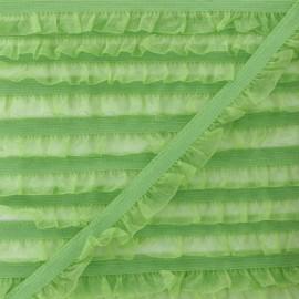 Elastique Lingerie Mousseline - Anis  x 1m