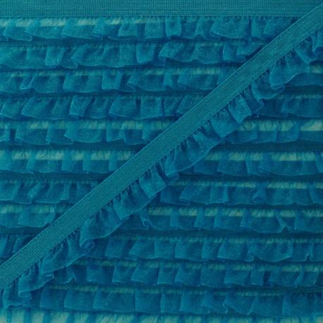 Galon Elastique Mousseline - Bleu Canard  x 1m