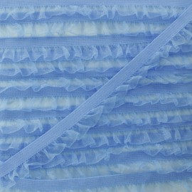 Elastique Lingerie Mousseline - Bleu x 1m