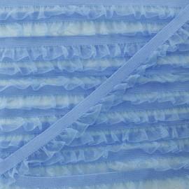 Flounce Muslin Elastic Ribbon - Blue x 1m